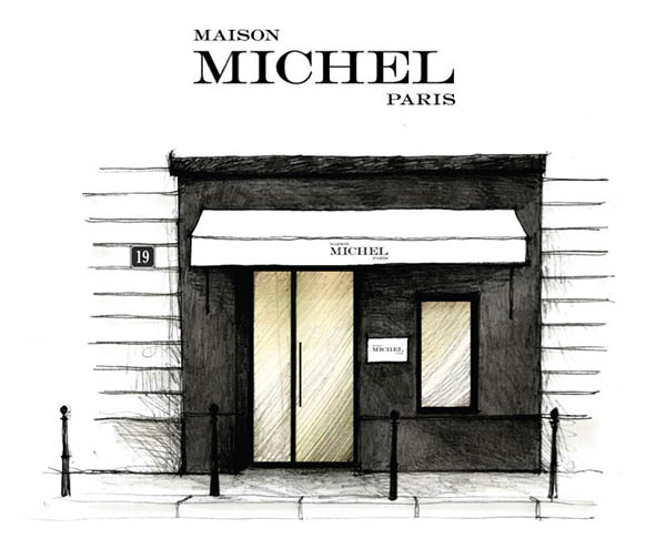maison michel opens a pop up tore in paris evelina khromtchenko. Black Bedroom Furniture Sets. Home Design Ideas
